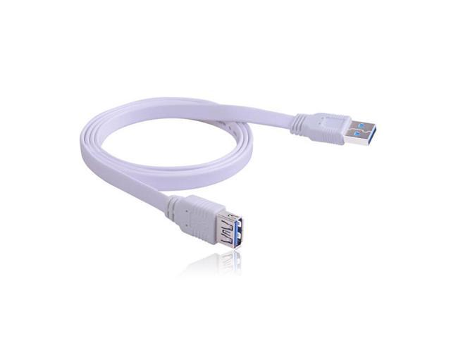 Ultra-High-Speed USB3.0 Extension Cable 1 M - White