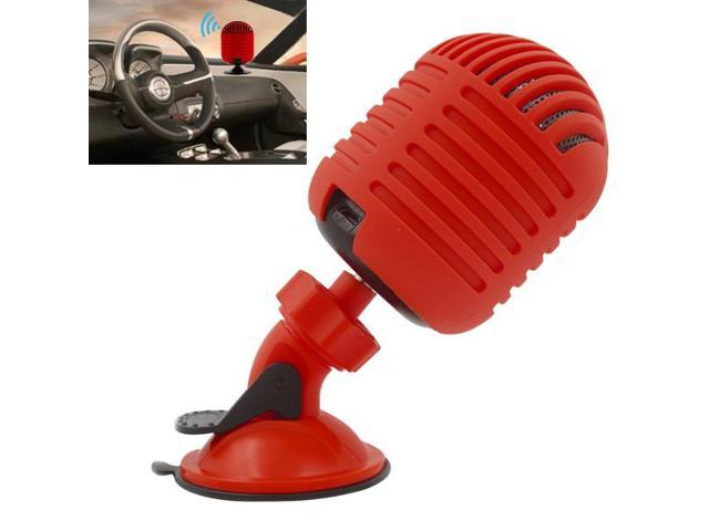 Fashion Microphone Shape Wireless Bluetooth Speaker - Red
