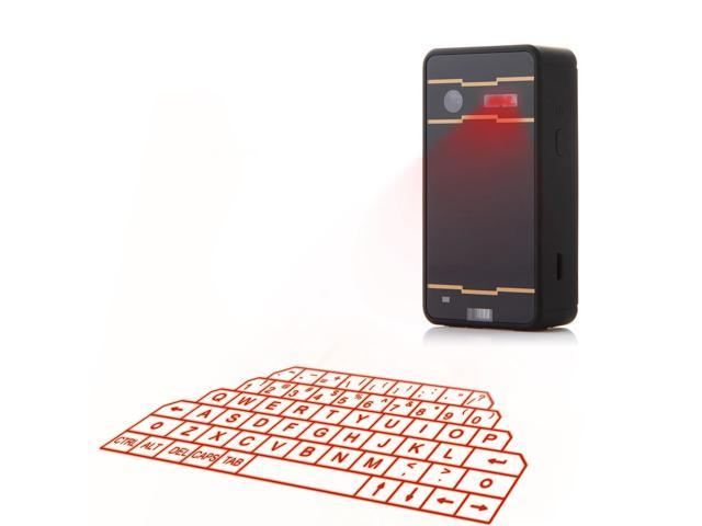 F1A Mini Virtual Laser Keyboard Wireless Bluetooth Projection for PC Smartphone Black