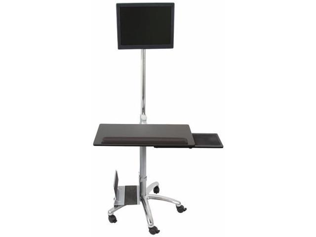 MonMount PC-130A Mobile Computer Cart for Mobile Workstations