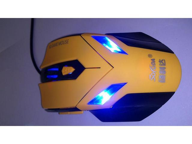 Schawk G30 genuine blue tracer six key fourth gear speed wired gaming mouse cool blue