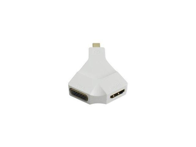 Ayangyang Mini DisplayPort 1.2 Thunderbolt to VGA & HDMI Combo Adapter 2-in-1 for Apple MacBook & Air & Pro & iMac