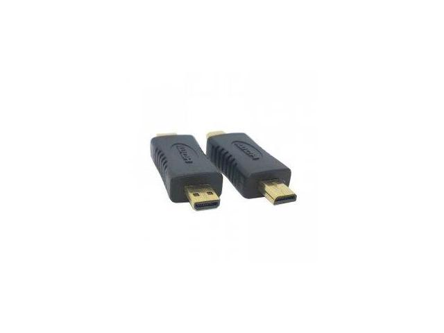 Ayangyang Black D type Micro HDMI plug male to Micro HDMI Male extender adapter convertor