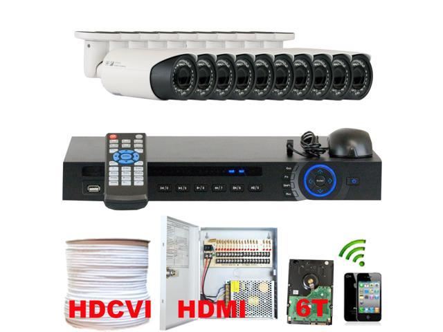 GW Professional 16 Channel HD-CVI DVR Security Camera System with 10 x 1/2.9 HDCVI Color IR CCTV Security Camera, 1.0Mega pixel Color CMOS. One ...
