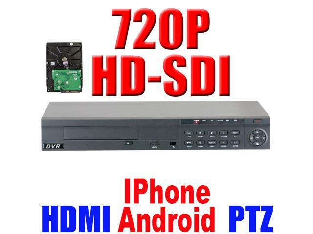 GW 8 Channel 720P HDMI Video Realtime Standalone DVR (2TB Hard Drive) Motion Detection iPhone Android Compatible High Definition Surveillance ...
