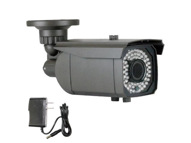 GW 1000 TVL Varifocal Lens 2.8~12mm Sony CMOS Weatherproof 64 PCs IR LED Outdoor & Indoor CCTV Surveillance Security Camera with Power Adapter Kit