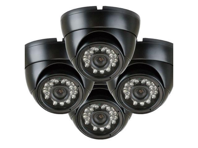 GW (4) Pack 700 TVL Weather Proof Outdoor and Indoor Security Camera 3.6mm Lens 24 PCs IR LEDs 65 feet IR distance Surveillance CCTV Dome ...