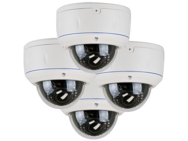 GW (4) Pack 650 TVL Weather Proof Outdoor and Indoor Security Camera 2.8~12mm Lens 30 PCs IR LEDs 65 feet IR distance Surveillance CCTV Dome ...