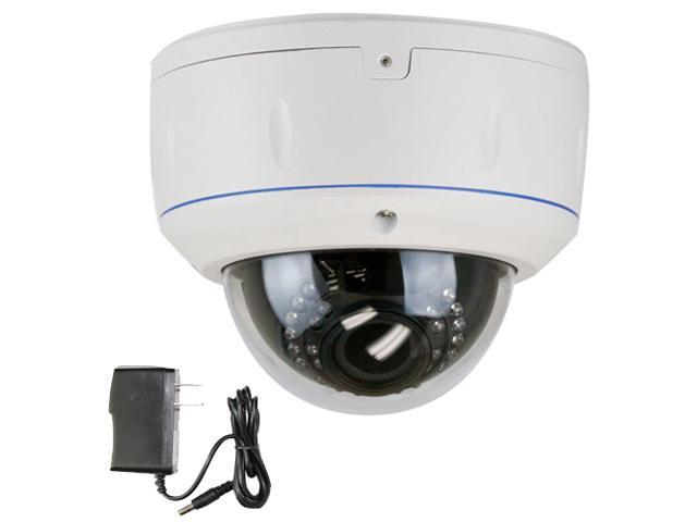 GW CCTV Camera 650TVL Varifocal 2.8mm to 12mm Lens 30PCs InfraRed LED Outdoor & Indoor Dome Surveillance Security Camera with Power Adapter Kit