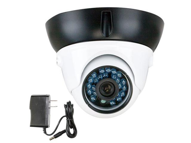 GW 700 TVL CCD 3.6mm Lens 24PCS Infrared LED 49 feet IR distance CCTV Day & Night Surveillance Indoor Dome Security Camera with Power Adapter ...