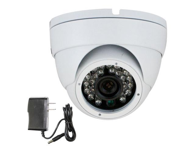 GW Color Sony CMOS 700 TVL 3.6mm Lens 24PCS Infrared LED 49 feet IR Distance CCTV Surveillance 700TVL Indoor Dome Security Camera with Power ...