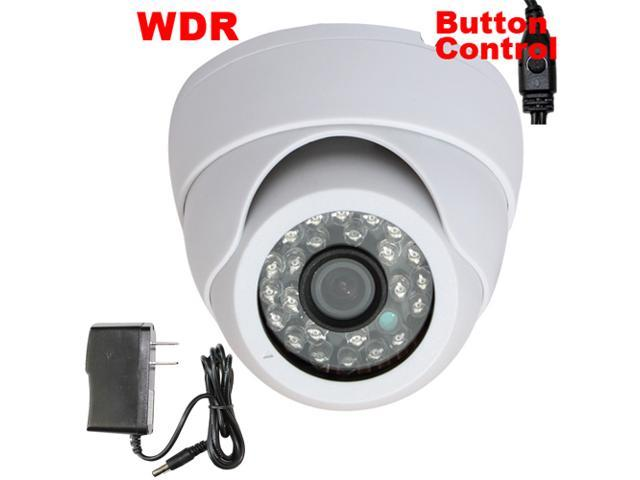 GW Sony CCD 600 TVL 3.6mm Lens 26 PCs IR LED Dome WDR OSD Menu CCTV Surveillance Indoor Security Camera with Power Adapter Kit