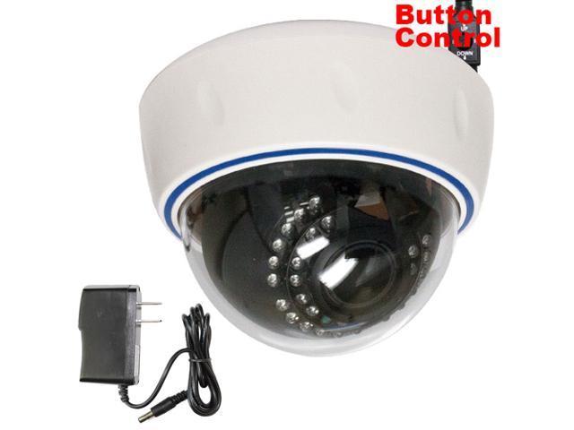 GW 700 TVL SONY Super CCD 2.8~12mm Manual Varifocal lens 30 IR LEDs 49 feet IR Distance Surveillance CCTV Indoor Dome Security Camera with Power ...