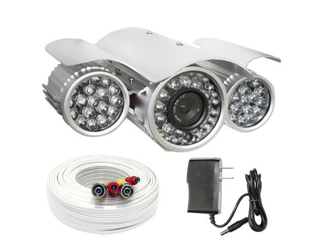 GW 700 TVL 250 feet IR distance 6mm Lens Vandal Proof & Water Proof Outdoor and Indoor Surveillance CCTV Security Camera with 100 Feet Cable ...