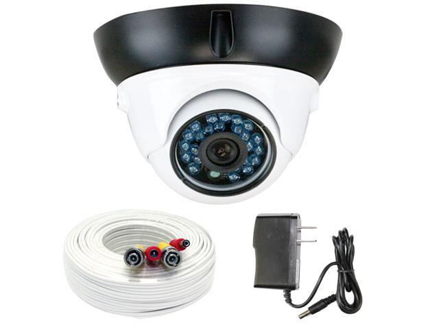 GW 700 TVL CCD 3.6mm Lens 24PCS Infrared LED 49 feet IR distance CCTV Day & Night Surveillance Indoor Dome Security Camera with 100 Feet ...