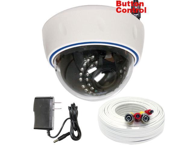 GW 700 TVL SONY Super CCD 2.8~12mm Manual Varifocal lens 30 IR LEDs 49 feet IR Distance Surveillance CCTV Indoor Dome Security Camera with 100 ...