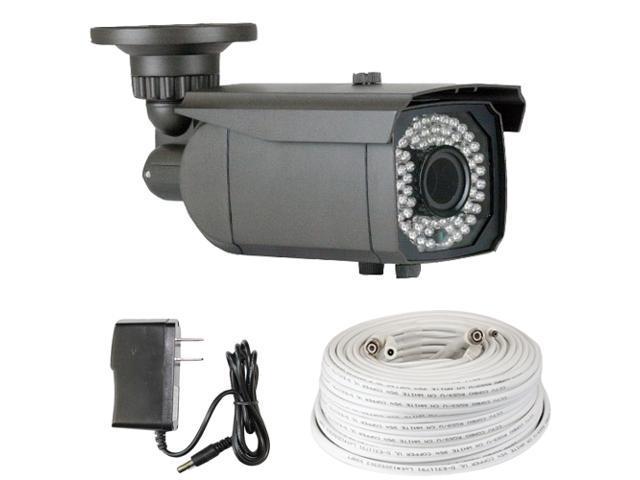 GW 1000 TVL Varifocal Lens 2.8~12mm Sony CMOS Weatherproof 64 PCs IR LED Outdoor & Indoor CCTV Surveillance Security Camera with 100 Feet RG59 ...