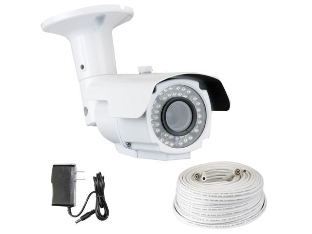 GW 1200 TVL Sony CMOS 2.8~12mm Varifocal Lens 110 Feet IR Distance Weather Proof CCTV Surveillance Bullet Security Camera with 100 Feet RG59 ...