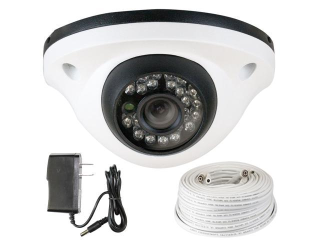 GW 850 TVL Sony CMOS 3.6mm Lens 49 Feet IR Distance Metal Vandal Proof CCTV Surveillance Indoor Dome Security Camera with 100 Feet RG59 Cable ...