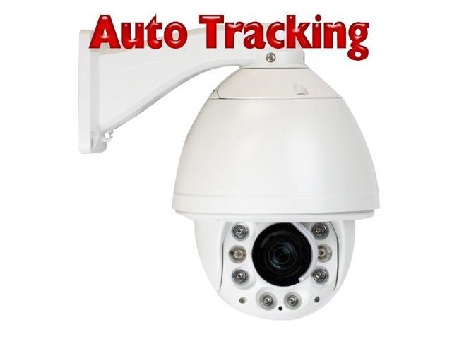 GW Pan Tilt Zoom (PTZ) Camera Auto Tracking Feature 700 TVL 27X Optical Zoom 360? Pan Rotation Weather Proof Outdoor & Indoor Use Day & ...