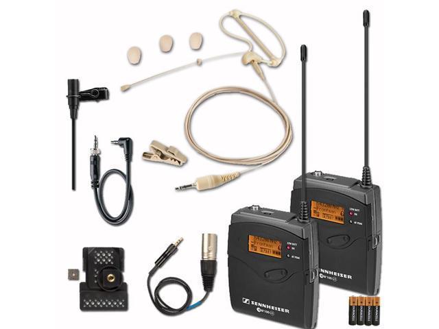 Sennheiser EW 112-P G3 (G-Band) Wireless Microphone System with Headset Mic Bundle