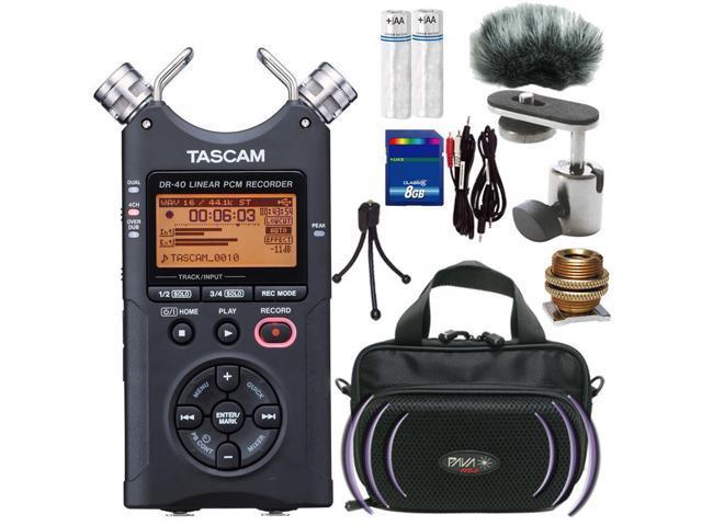 Tascam DR-40 Digital Audio Recorder with Complete DSLR Accessories Bundle