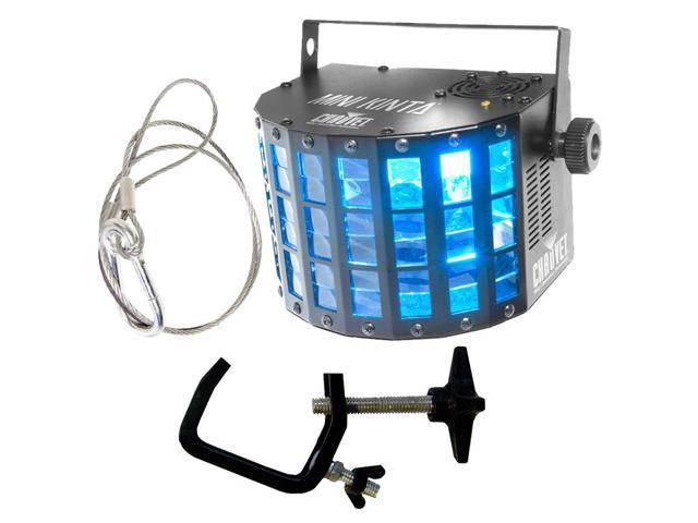Chauvet DJ Mini Kinta LED Effect Light with Mounting Clamp & Safety Strap Bundle