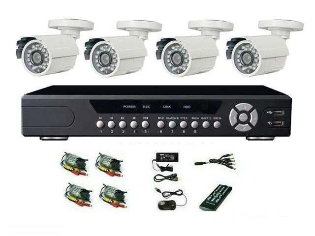 VC-XTS12B8CH Visioncool Sony 1200TVL CCTV System 8ch 960H DVR 4pcs Outdoor IR Cameras with IR Cut Filter 8ch DVR Kit Security Camera System Full ...
