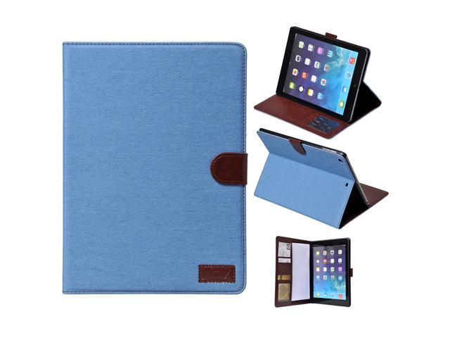 Apexel Cowboy Cloth Style Good Quality New Leather Protective Cover with Card Slot for iPad Mini 2/ iPad Mini 3 with Retina Display (2nd ...