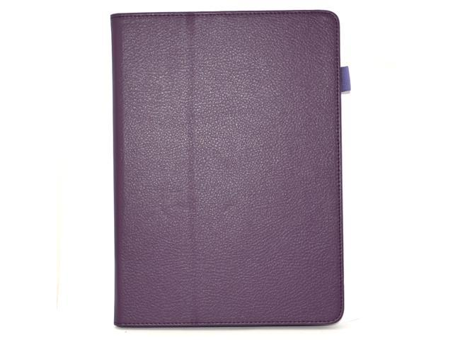 Apexel Folio Case - Slim Fit Leather Smart Cover with Auto Sleep / Wake Feature for iPad Air / iPad 5 Purple