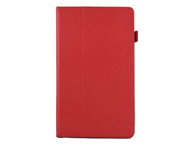 Apexel Folio Case - Slim Fit Leather Smart Cover with Auto Sleep / Wake Feature for iPad Air / iPad 5 Red
