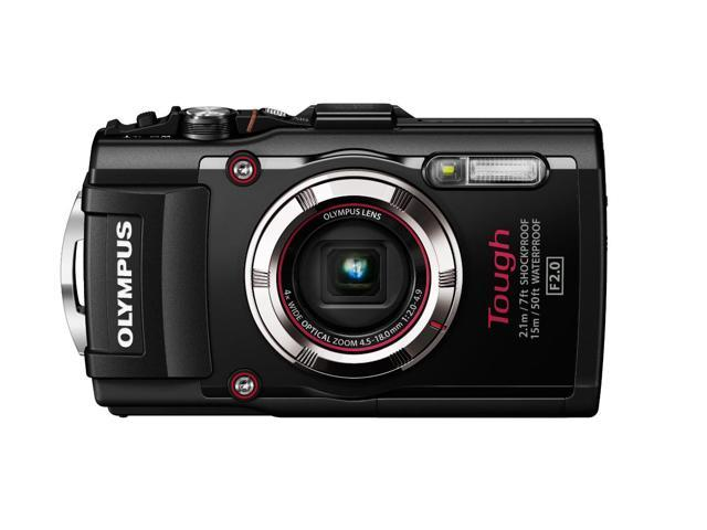 Olympus TG-3 Waterproof 16 MP Digital Camera (Black)