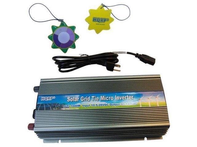 HQRP 1000W Grid Tied MPPT Power Inverter 10.5V~28V DC for Solar Panel System plus HQRP UV Meter