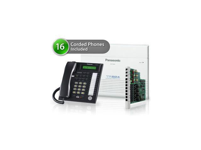 Panasonic KX-TA824-6CO Pack of 16 Advanced Hybrid Telephone System W/ Background Music Capability And Network Camera Compatability