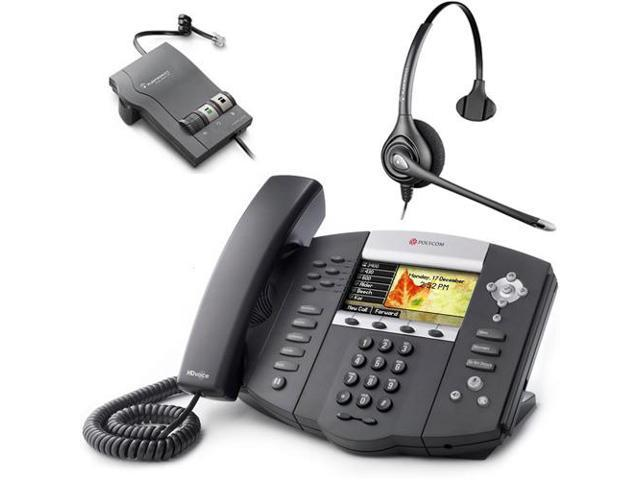 Polycom 2200-12670-001 w/ Amplified Headset VoIP Corded Phone with Included Headset