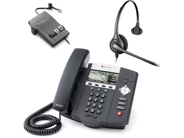 Polycom 2200-12450-001 w/ Amplified Headset VoIP Corded Phone with Included Headset