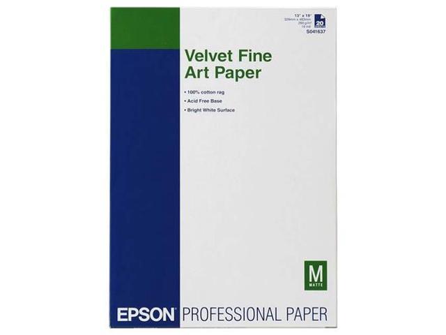 Epson S041637M White Matte Velvet Fine Art Papers 13