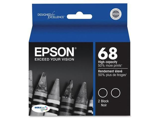 Epson T068120D2M Black DURABrite High Capacity Dual-Pack Ink Cartridges For Epson Stylus CX / NX Series Printers