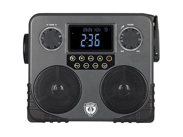 CHAMP AVXRCEP600WRB Bluetooth Survival Solar Multi-Function Skybox with Emergency AM/FM NOAA Weather Radio