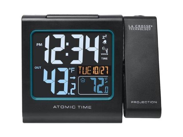 La Crosse Technology 616146B La Crosse Technology 616-146 Atomic Color Projection Alarm clock
