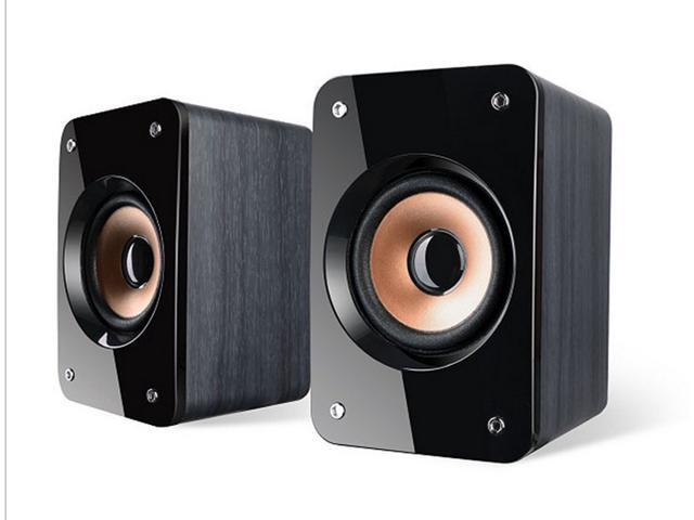 new laptop Multimedia Subwoofer Speaker speakers Wood USB Notebook Laptop Portable Speakers
