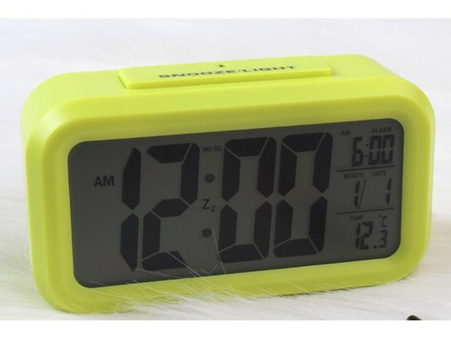 Large screen LED electronic clock lazy light induction snooze alarm clock smart alarm clock