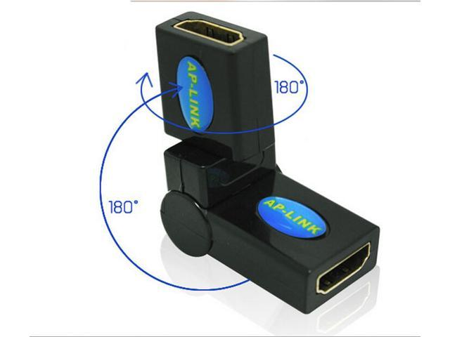 HDMI Female Adapter for HDMI female can be rotated 360 degrees hdmi female to female 180 ° elbow adapters