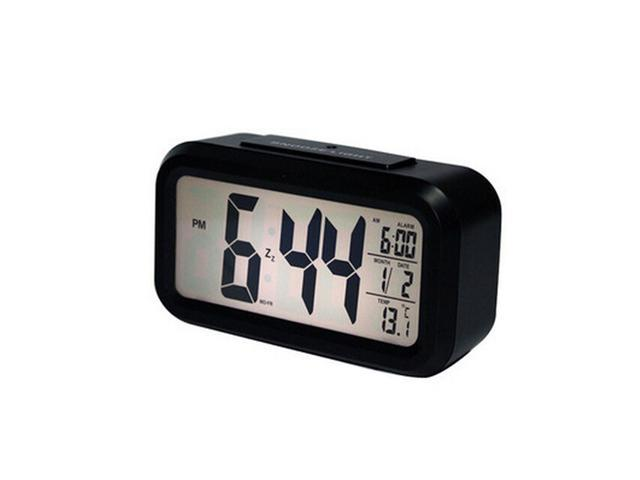 Silent Glow LED large screen electronic bedside alarm clock lazy clever