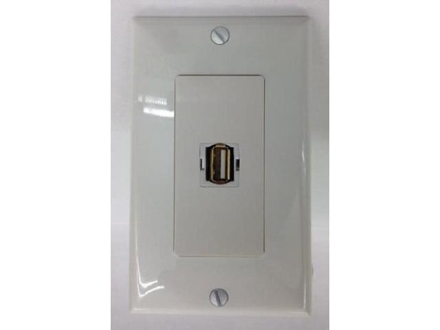 CERTICABLE 1 PORT USB 2.0 A-A FEMALE-FEMALE DECORA WHITE SINGLE GANG WALL PLATE - OEM