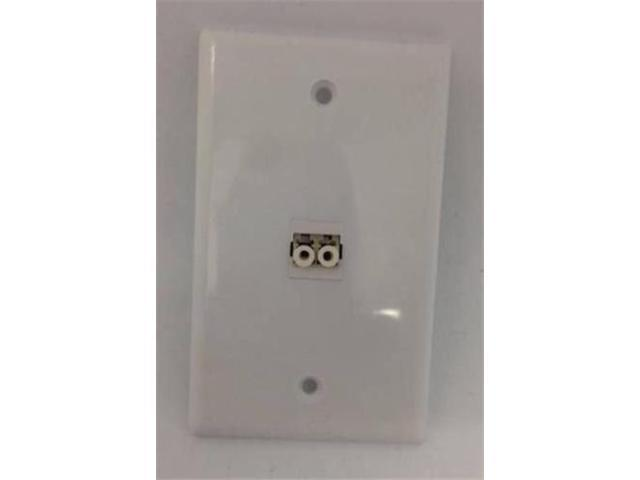 CERTICABLE CUSTOM WHITE SINGLE GANG WALL PLATE- LC DUPLEX MULTIMODE ADAPTER