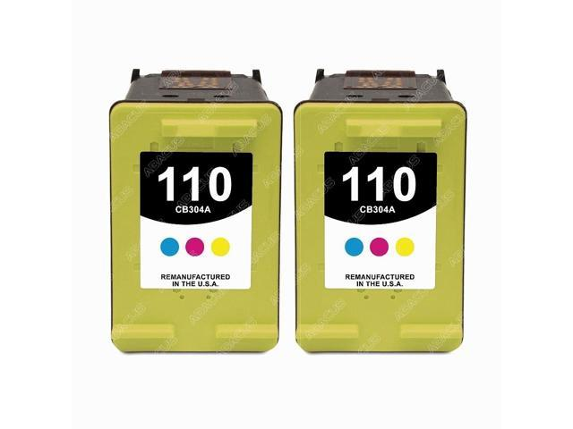 2-PACK Remanufactured HP 110 (CB304) Tri-Color Ink Cartridges for HP Photosmart 400, 500, 600, 700 and 800 series printer models