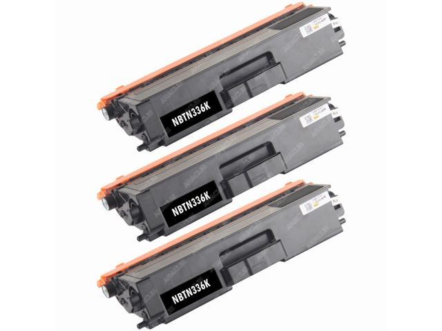 3-PACK Compatible Brother TN336 (TN336BK) High Yield BLACK Toner Cartridge for HL-L8250CDN, HL-L8350CDW, HL-L8350CDWT, MFC-L8600CDW, MFC-L8850CDW ...