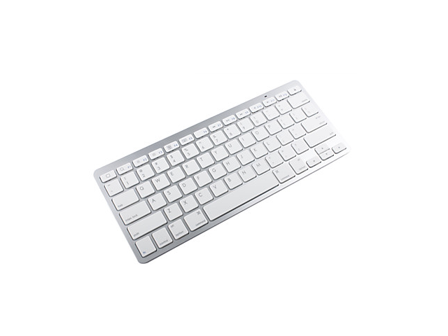81-Key Slim Portable Bluetooth Wireless Keyboard -White