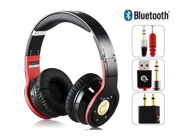 SYLLABLE G08-005 Noise Reduction Bluetooth 4.0 Foldable Stereo Headphones with Microphone (Black)